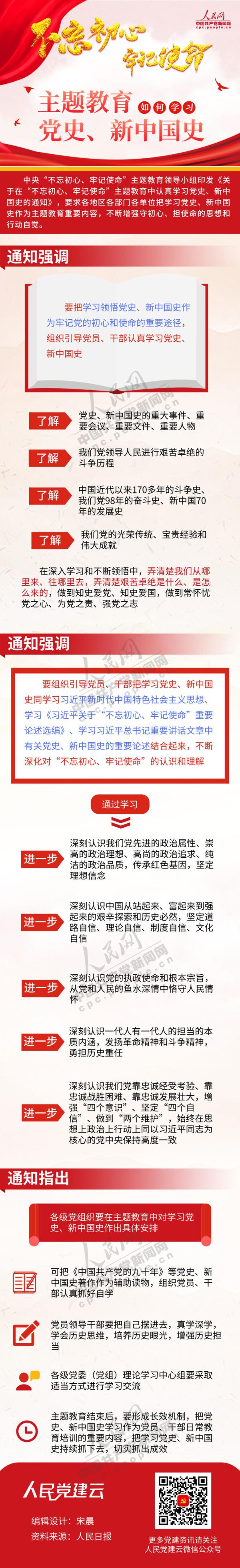 """图解:""""不忘初心、牢记使命""""主题教育中如何学习党史、新中国史"""